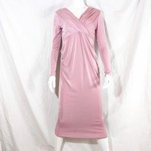 NWT Missguided Mauve Midi Long-Sleeved Dress